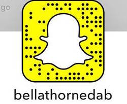 Bella Thorne Snapcode