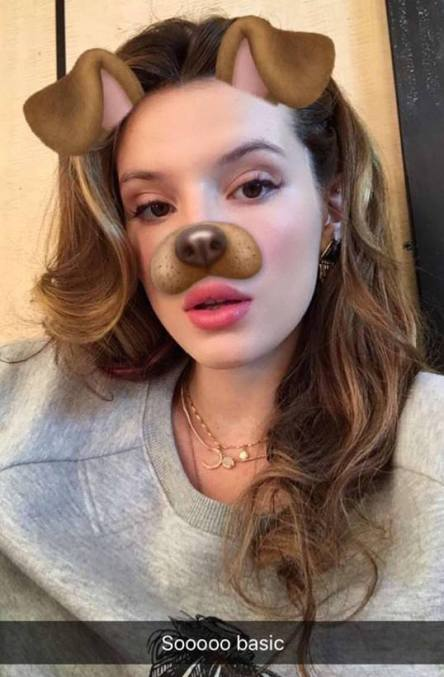 Bella Thorne Snapchat dog