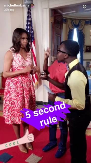Michellle Obama 5 second rule